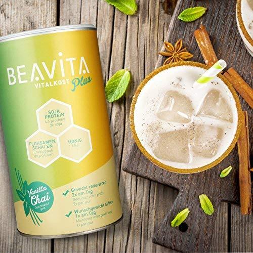 BEAVITA Vitalkost Plus | Paquete con todos los sabores | 5x 572g | Frambuesas, Cookies & Cream, Café, Mango Lassi & Vanilla Chai | Suplemento con proteína, ...