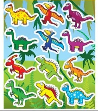 Party Gifts HENBRANDT 12 Sheets of Dinosaur Stickers ideal for Party Bag Fillers