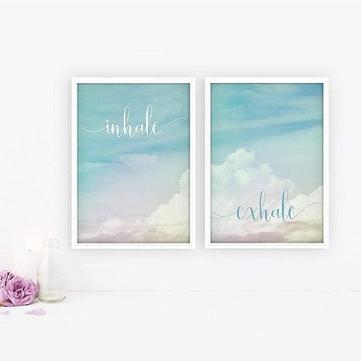 Inhale Exhale Motivación Cartel Yoga Meditación Imprime Boho ...