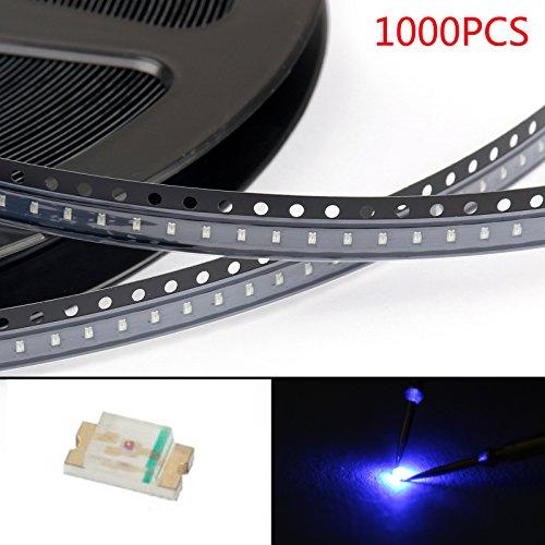 Areyourshop 1000Pcs 0603 (1608) Blue Light SMD SMT LED Lamp Diodes Emitting Super Bright New