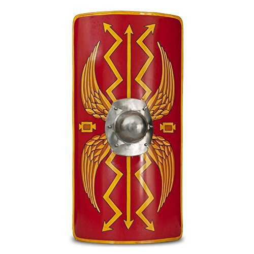 Medieval Warrior Functional Medieval Roman Armour Legion Scutum Shield 18G Steel Jumbo SCA LARP ()