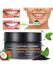 Polvere Denti,Carbone Attivo Denti,Carbone Denti,Teeth Whitening,Sbiancamento Denti Carbone Attivo Naturale,di polvere di carbone attivo,Contro l'alitosi,Rimuovere Macchie