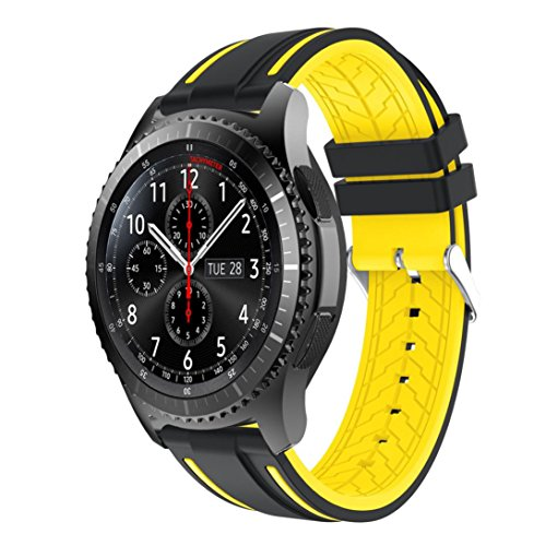 Price comparison product image Boofab Band For Samsung Gear S3 Frontier,  New Fashion Sports Silicone Strap Replacement Bracelet Wristband For Samsung Gear S3 Frontier (B)