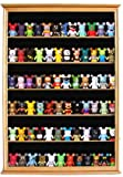 Large Wall Mounted Curio Cabinet Shadow Box for Action Figures, Vinylmations, Miniatures, Figurines, With Door, CDSC16-OA