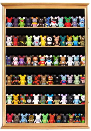 (DisplayGifts Large Wall Mounted Curio Cabinet Shadow Box Action Figures, Vinylmations, Funko Pops, Figurines, CDSC16-OA)