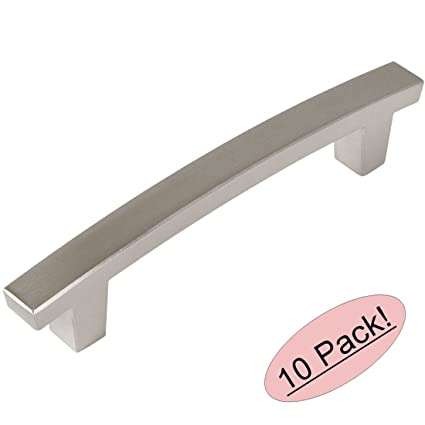 10 pack cosmas 5236sn satin nickel contemporary cabinet hardware