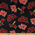 MLB Fleece St. Louis Cardinals Toss Red/Blue Fabric By The Yard