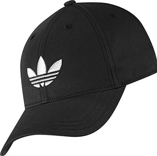 adidas Erwachsene Kappe Trefoil Cap, Schwarz/Weiß, One size, 4056559441401