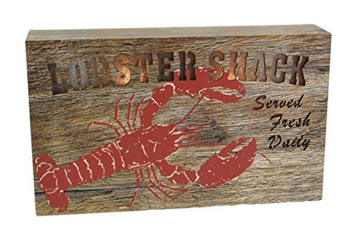 Two Kings Lobster Shack Served Fresh Daily LED Lighted Pressed Wood Sign