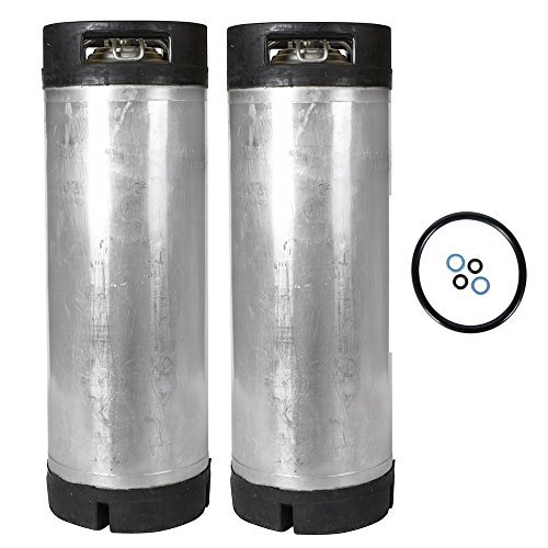 - 5 Gallon Ball Lock Keg 2 Pack - Reconditioned - With Free O-Ring Kit