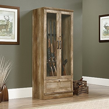 gun cabinet wood - 2