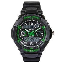 Hiwatch 子供 腕時計 防水 デジタル表示 アナデジ式 アラーム スポー...