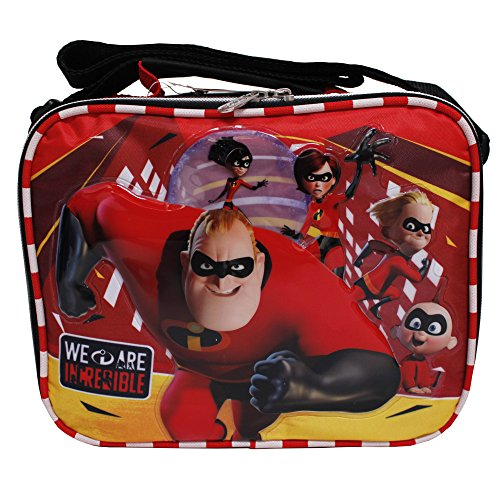 Disney The Incredibles 2 We Are Incredible Red & Black Insulated Lunch Box Bag