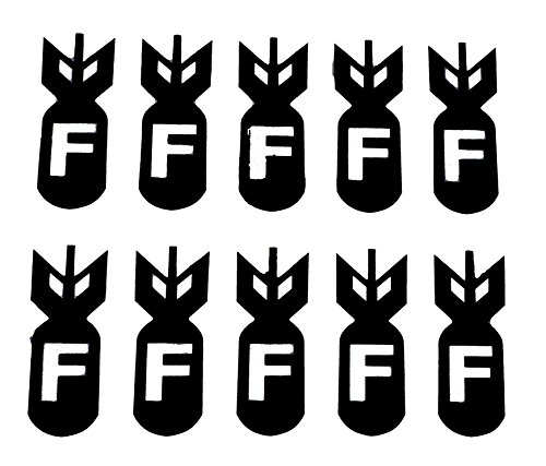 10X 2 F-Bomb Vinyl Decal Stickers 75091 (Black)