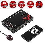 AV Access HDMI Switch 4K, 5 Port HDMI Switcher Box,4K60Hz HDCP 2.2 HDMI