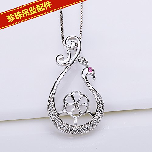 usongs DIY accessories necklace pendant pearl necklace pendant peacock semi-mountings term care