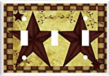 Got You Covered BARN Star Primitive Country Inspired Light Switch Cover Plate OR Outlet (3X Toggle)
