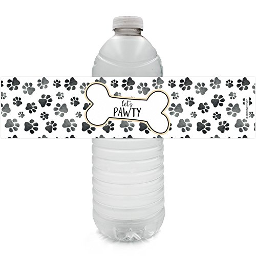 Puppy Dog Birthday Party Water Bottle Labels, 24 ()