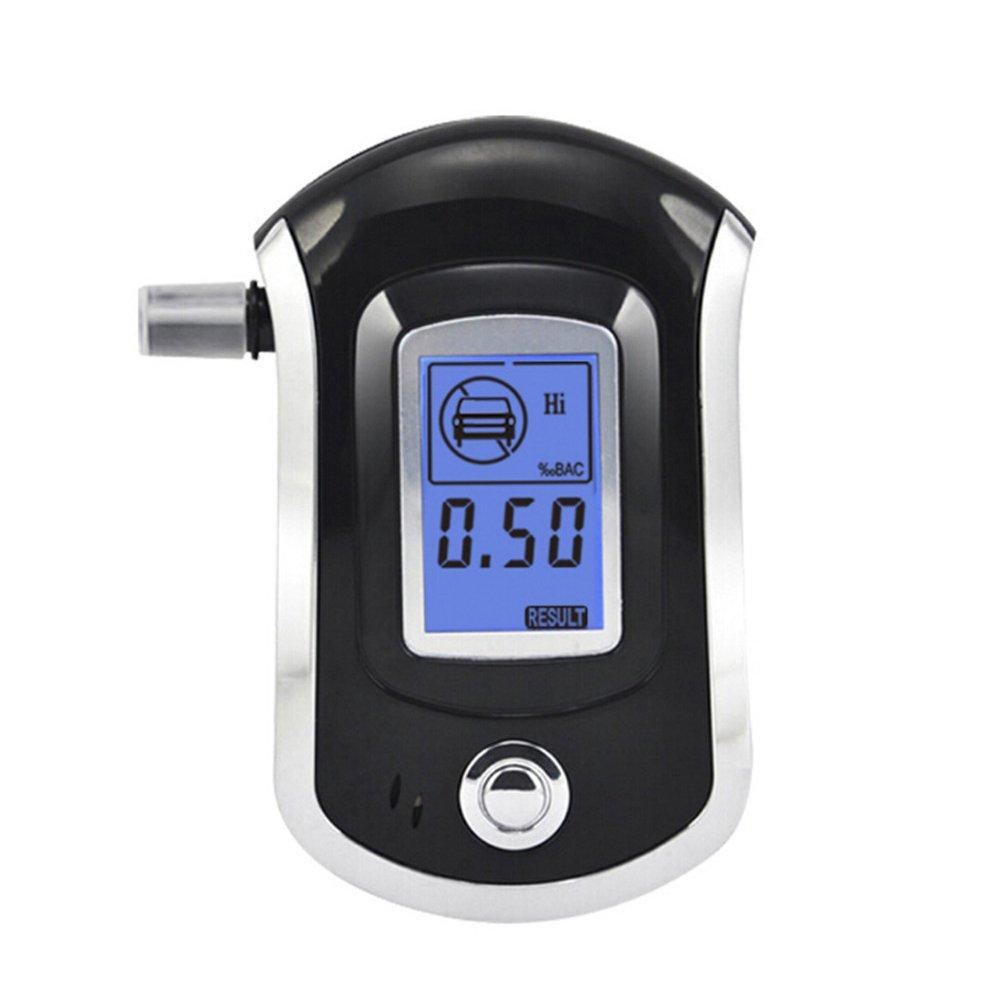 LCD Digital Polizei Atem Alkoholtester Test Alkohol Tester Analyseger?t Detektor at-6000?Blowing Typ Drunk Driving Tragbarer Mini Atem Alkohol Tester