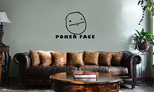 DECAL SERPENT JDM Funny Poker Face Cartoon Meme Vinyl Wall Mural Decal Home Decor Sticker - Cartoon Poker Face