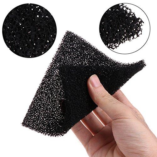 SimpleLife 5 Piezas Esponja de Espuma de carbon Activado Negro Universal Filtro de Aire impregnado Almohadilla