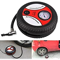 kr creation Electric Mini DC 12V Air Compressor Pump for Car and Bike Tyre Tire Inflator