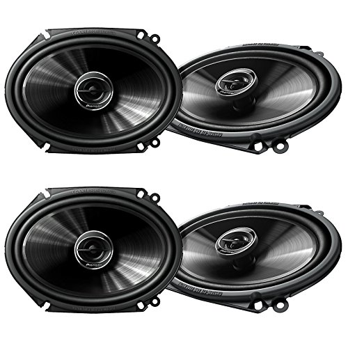 2 Pioneer 5x7 6x8 Inch 250 Watt G Series Coaxial Car Speakers Pair | TS-G6845R