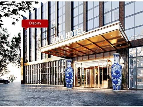 Florero de cerámica grande piso de pie clásico para flores secas, decoración del hogar, sala de estar, hotel, dormitorio, oficina, azul, 39 x 140 cm para flores: Amazon.es: Hogar