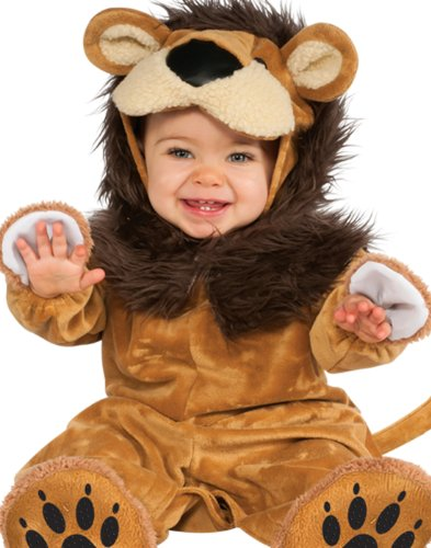 Cute Costumes To Make For Halloween (Rubie's Costume Cuddly Jungle Lil Lion Romper Costume, Golden, 12-18 Months)