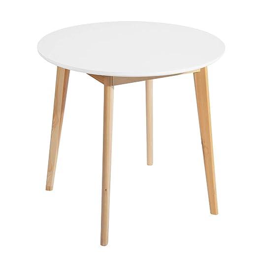 Muebles Cosy Mesa de Comedor, MDF, Blanco, 80 x 80 x 75 cm: Amazon ...