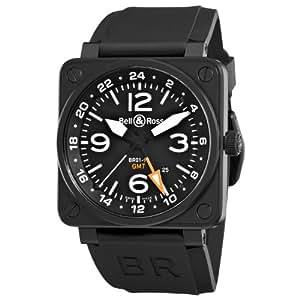 Bell & Ross Men's BR-01-93-GMT Aviation Black GMT Dial Watch Watch