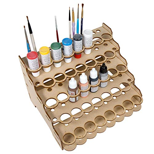 The Broken Token Modular Paint Rack (Straight 26mm Holes) (Paint Bottle Organizer)