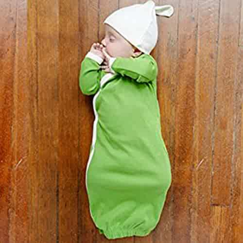 bb58f74e5 Makaor Newborn Baby Boy Girl Sleeping Bag Long Sleeve Gown Knot Hat Outfits  Clothes Set By