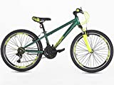 Junior/ Boys 20 Inch Alloy Mountain Bike With Shimano Gears- 7-14 Years, 20, Green