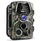 【Upgraded】 Victure Trail Game Camera 1080P 12MP Wildlife Hunting Camera with 120 ° Wide Angle, 20m Night Vision Infrared, IP66 Waterproof Design, 2.4'' LCD Display for Wildlife Surveillance