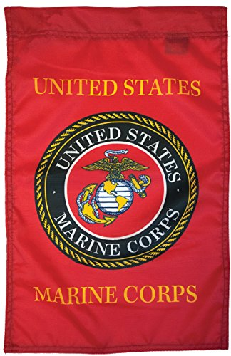 Flagsource - U.S. Marine Corps Nylon Garden Flag 18x12 - Proudly Made in USA from Flagsource