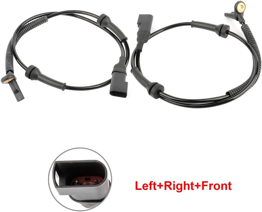 ALS1866 ABS Wheel Speed Sensor Left+Right+Front Replacement For 2010-2013 for Ford Transit Connect 2010 for Ford Transit pack of 2 FreieFahrt
