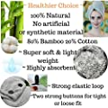 Zhenali Hair Drying Towel Wrap for women. Bamboo and Cotton Hair Towel for drying your hair naturally. Ultra- Soft, Super absorbent Bath Turban for thick, Long, short or curly hair.