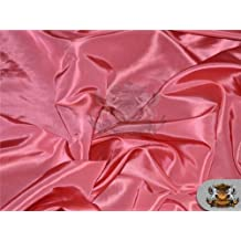 "Taffeta Solid Fabric LIGHT CORAL / 58"" Wide / Sold by the yard"