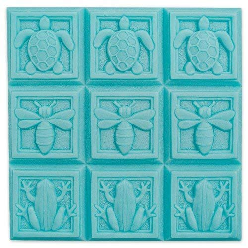 Milky Way Art Deco Fauna Soap Mold Tray - Melt and Pour - Cold Process - Clear PVC - Not Silicone - MW 88