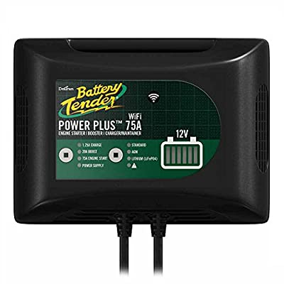 Power Plus 75 Amp Battery Charger For Batteries Big and Small, 20 Amp Battery Boost, 1.25 Amp Charger and Maintainer. Its Wi-Fi Lets you Connect Your Charger to the Internet, Get Alerts, and Control your Charger from Your iOS or Android Device