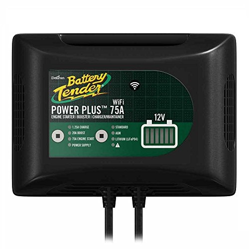 International Battery Tender - Battery Tender 022-0227-DL-WH Power Plus 75Amp Battery Charger For Batteries Big & Small, 20Amp Battery Booster, 1.25 Amp Charger and Maintainer. Get Alerts with WiFi Capabilities