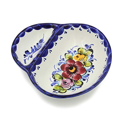 Hand-painted Portuguese Ceramic Olive Dish (Small)