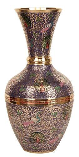 The Holy Mart Minakari Flower Vase Decorative Statue by The Holy Mart