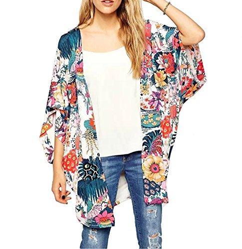 レディース カーディガン 夏 花柄 シフォントップ 通気性 ゆったり 心地がいい 可愛い ファッション よく売れる
