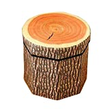 DinQ Lovely Fruit Storage Ottoman, Storage Chest Suitable for Kids Room Living-Room Entryway Bedroom Beverage Shop, ETC. (Tree Stump, S)