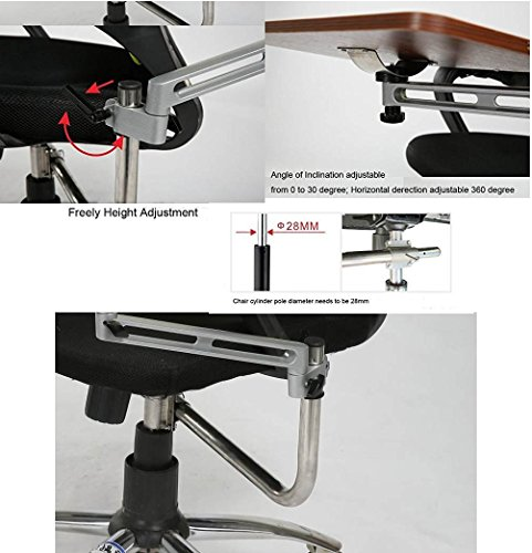 chair mount keyboard tray. amazon.com : er laptop tray with chair mount armrest | mouse and keyboard pc wrist rest for ergonomic purpose (walnut) office products /