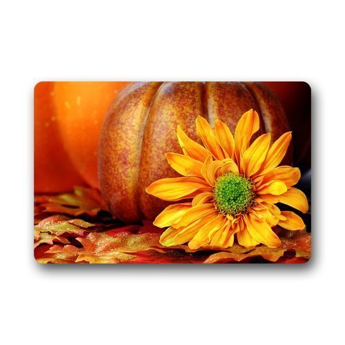 Cool Boys Custom Machine-washable Door Mat Pumpkins and Sunflower Indoor/Outdoor Decor Rug Doormat 23.6(L) x 15.7(W)