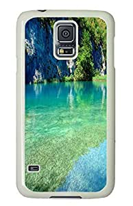 Brian114 Samsung Galaxy S5 Case, S5 Case - Full Body Protective Case for Galaxy S5 Lake 71 Hard Plastic Covers for Samsung Galaxy S5 White