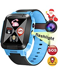 Kids Smart Watch Phone with SIM Card Slot GPS Tracker for...